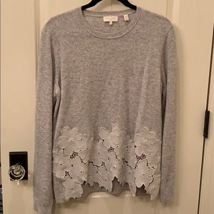 Ted Baker sweater with floral detail. Size 3 / M